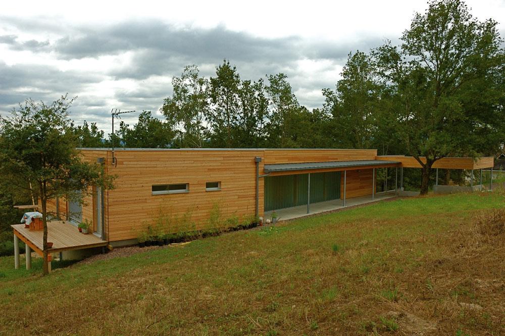 Maison bois dans la pente c a u e actualites for Terrain autoconstruction