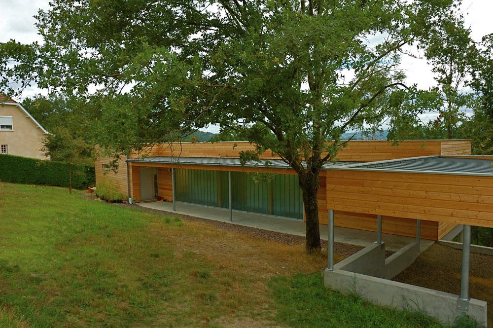 Maison BBC à ossature bois à Decazeville