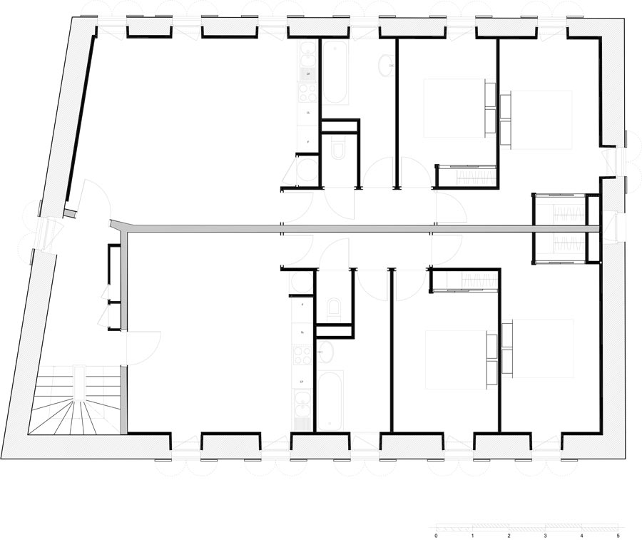 Plan couvent de Frons rehabilitation architecture