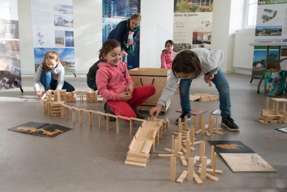L'exposition Architectures Contemporaine de l'Aveyron présentée à Campuac pour les JEP
